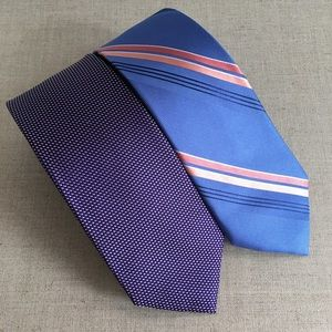 Lot of 2 Micheal Kors Men Multicolour Silk Ties